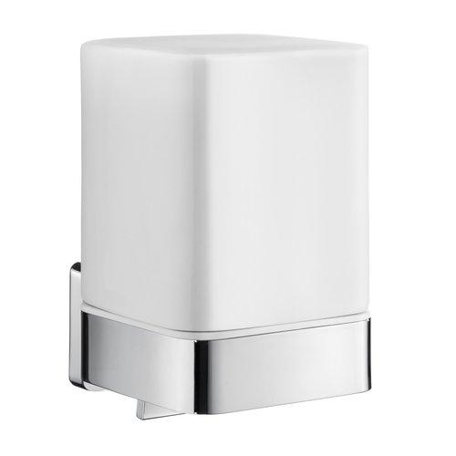 Zeepdispenser Smedbo Ice met Houder Mat Glas 7.8x10.2x11.5 cm Chroom