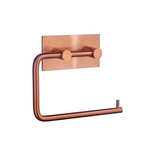 Specificaties Toiletrolhouder Smedbo Xtra Zelfklevend Geborsteld Koper Vierkant