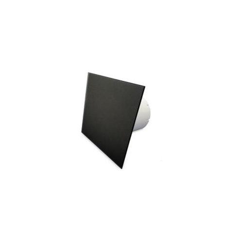 Badkamer Ventilator Pro Design Nalooptimer Vochtsensor 125mm 170m3 Vlak Glas Zwart Mat