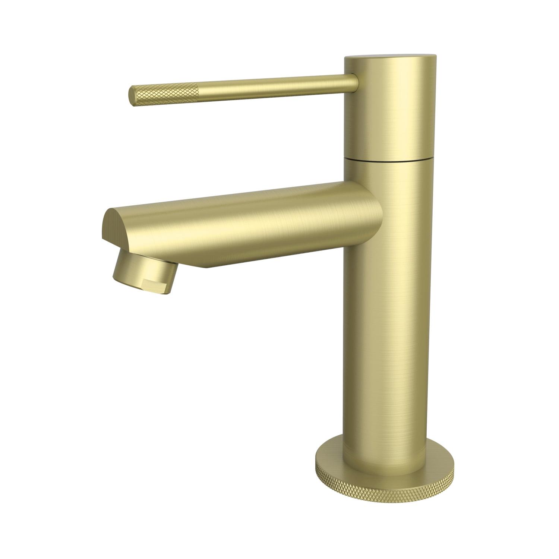 Toiletkraan Best Design Nancy-Ribera Uitloop Recht 14 cm 1-hendel Mat Goud ADW Design