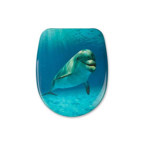 Sanimar Toiletzitting Malibu Beach Duroplast Softclose Systeem Dolphin