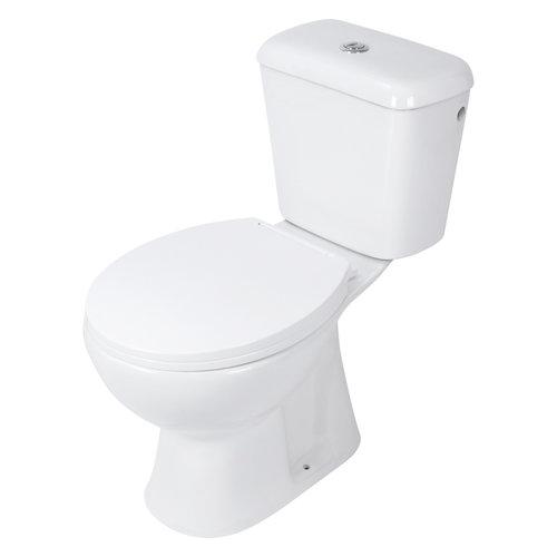 Toiletpot Differnz Staand Met AO Uitgang Inclusief Toiletbril Wit