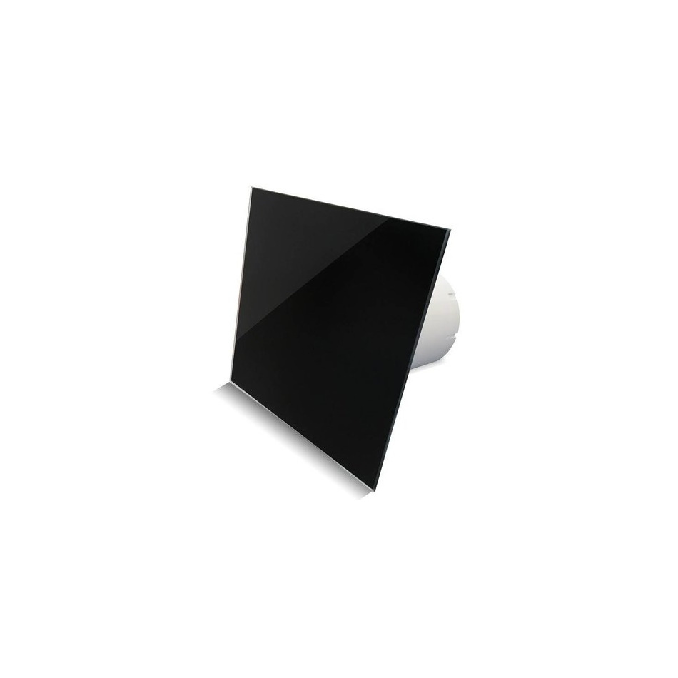 Badkamer Ventilator Pro Design Standaard 100 mm 105 m3 Vlak Glas Zwart Glans BWS