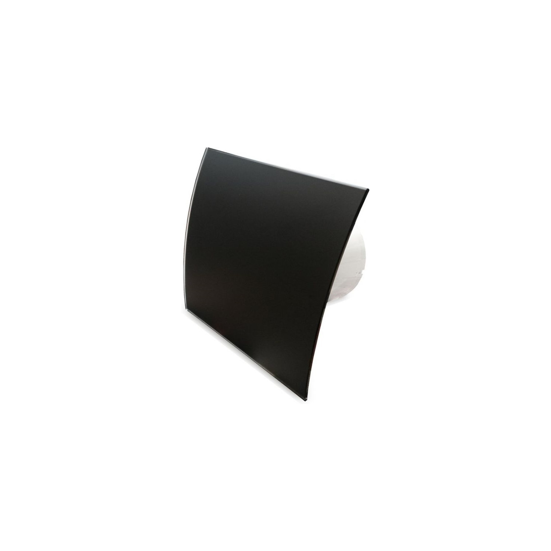 Badkamer Ventilator Pro Design Standaard 100 mm 105 m3 Gebogen Glas Zwart Mat BWS