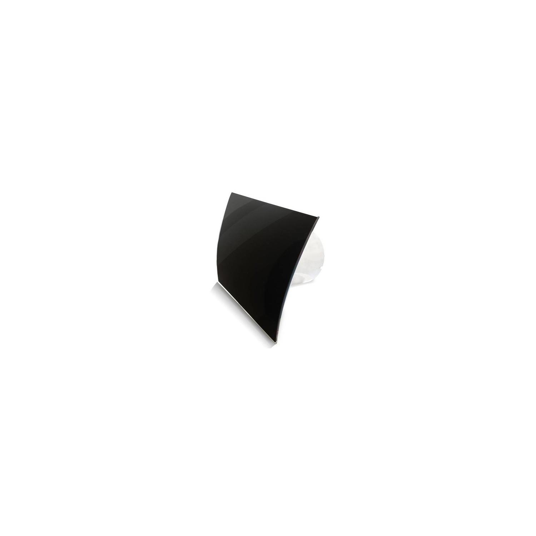 Badkamer Ventilator Pro Design Standaard 100 mm 105 m3 Gebogen Glas Zwart Glans BWS