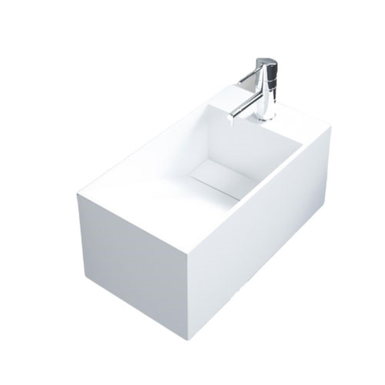 Fontein Bellezza Bagno Milazzo Solid Surface 49x26.5x22 cm Bellezza Bagno