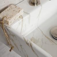 Fonteinset Carrara Marmerlook Wiesbaden Color RVS (kraangat midden)