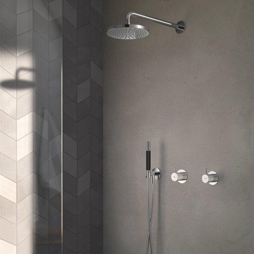 Complete Regendouche Hotbath Cobber Inbouwset Met 2-Weg-Stop-Omstel (3 Verschillende Kleuren)