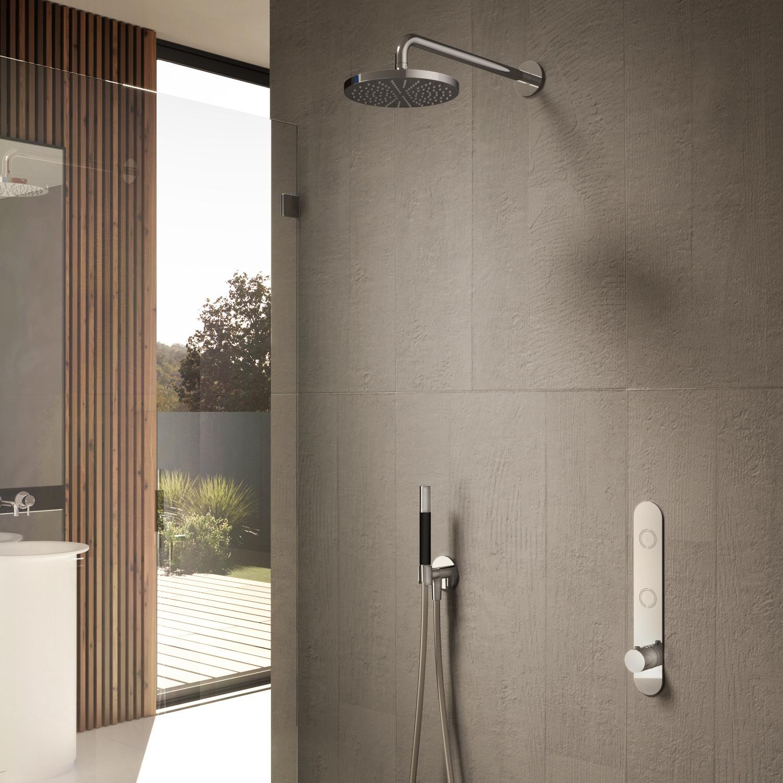Hotbath Complete Regendouche Cobber Inbouwset Met 2 Pushbuttons