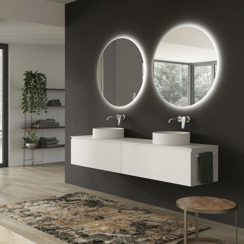Ronde Badkamerspiegel Xenz Salo met Rondom Ledverlichting en Spiegelverwarming 110 cm