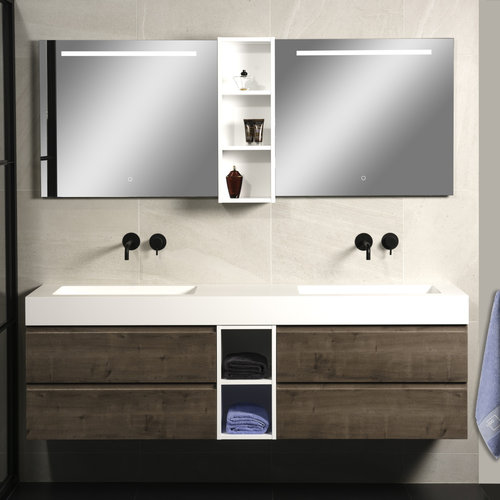 Badkamerspiegel Xenz Lazise 80x70cm met LED Verlichting en Spiegelverwarming