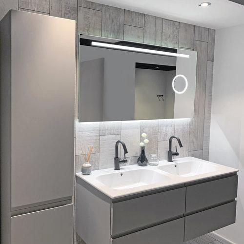 Badkamerspiegel Xenz Desenzano 180x70cm met Ledverlichting, Spiegelverwarming en Make-Up Spiegel