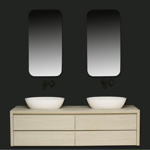 Badkamerspiegel Xenz Limone 50x100cm met Ledverlichting en Spiegelverwarming