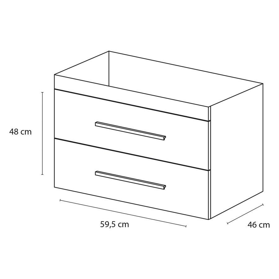Onderkast Differnz Style 60x46cm Mat Wit