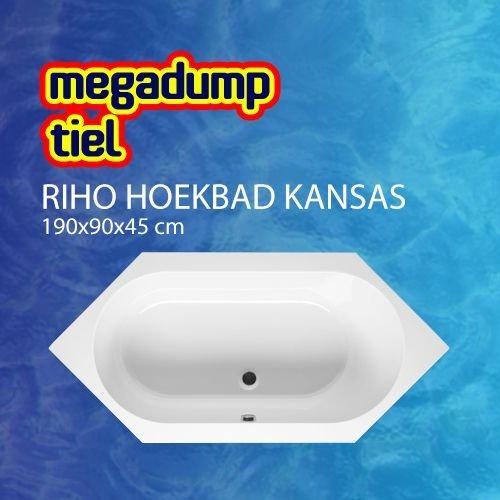 Hoekbad Kansas 190X90X45 Cm Wit