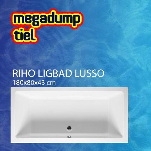 Ligbad Lusso 180X80X43 Cm Wit