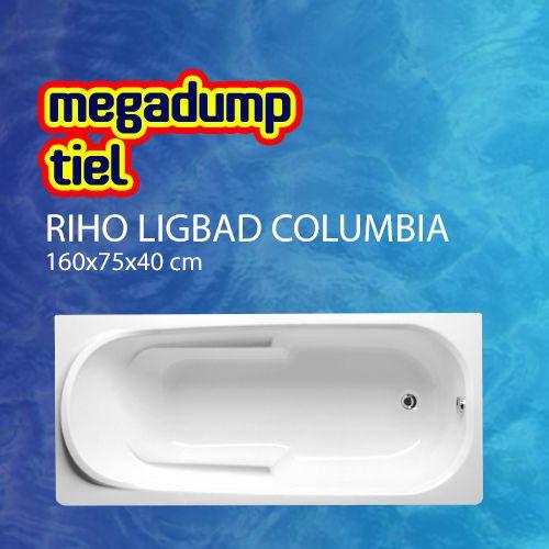 Ligbad Columbia 160X75X40 Cm Wit