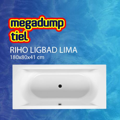 Ligbad Lima 180X80X41 Cm Wit