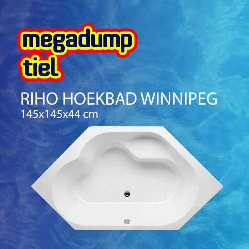 Hoekbad Winnipeg 145X145X44 Cm Wit
