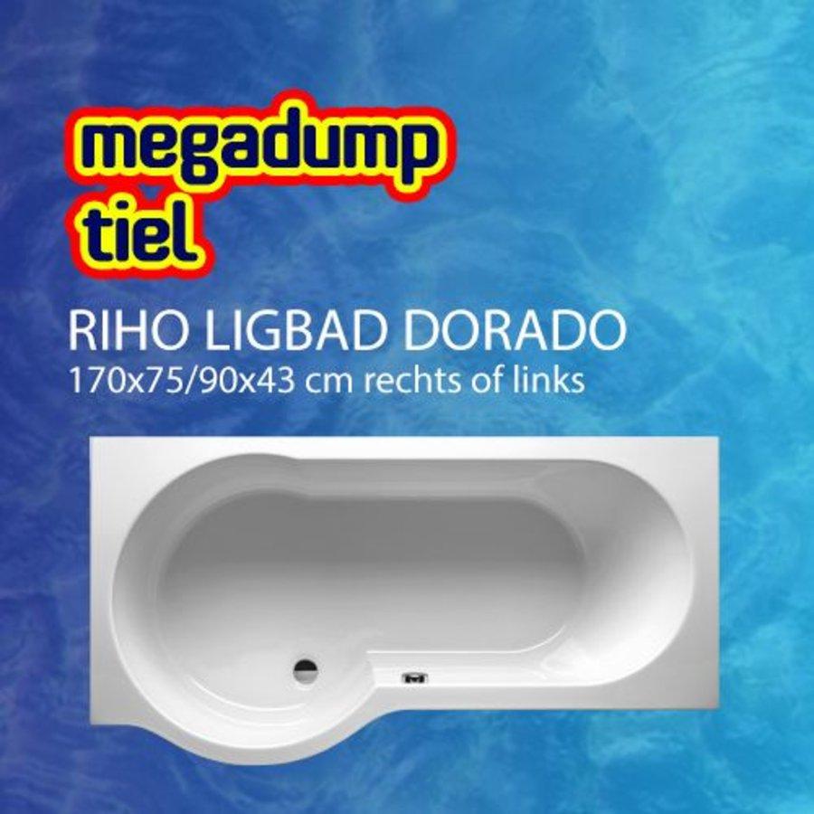 Ligbad Dorado 170X75/90X43 Cm Rechts/Links Wit