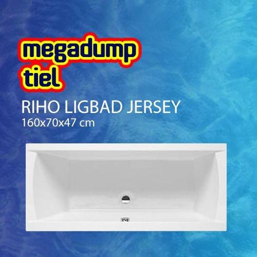 Ligbad Jersey 160X70X47 Cm Wit