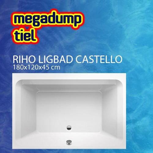 Ligbad Castello 180X120X45 Cm Wit