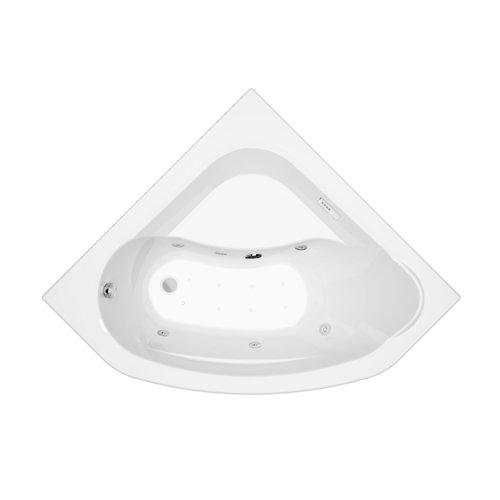 Allibert Whirlpoolbad LUCINA + Mantel Essentia  140x140x53,2-53,5 cm Wit