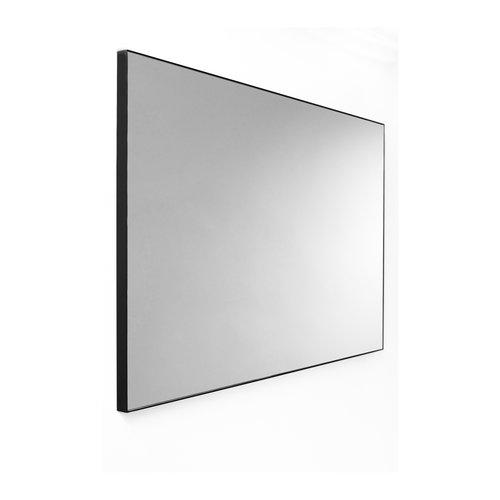Wandspiegel Van Marcke Frame Zonder Verlichting 70x70 cm Glas En Zwart Aluminium Kader