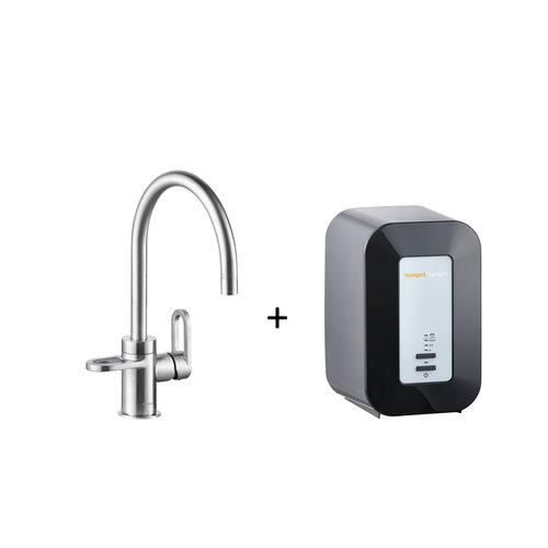 Kokendwaterkraan HotSpot Alessio Stainless Steel Effect Inclusief 4 Liter Boiler