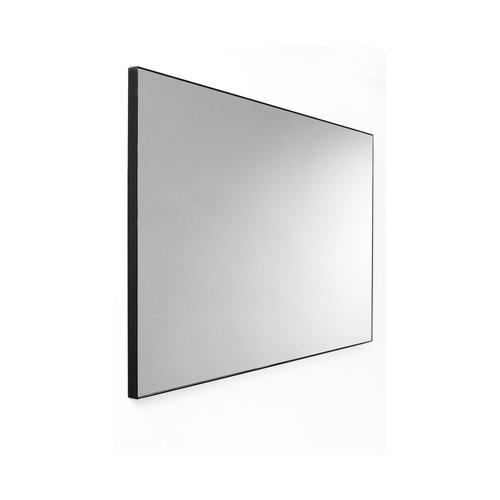 Wandspiegel Van Marcke Frame Zonder Verlichting 140x70 cm Glas En Zwart Aluminium Kader
