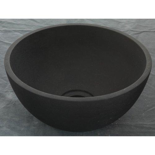 Waskom Imso Lavabo Mini Tondo Basalto Nero 26x13cm