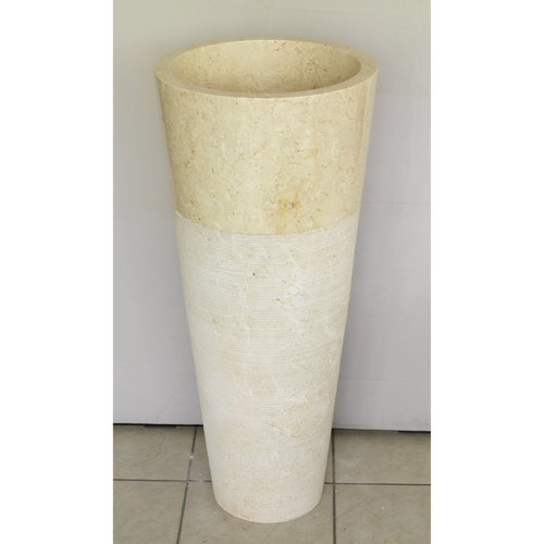 Wastafel Imso Lavabo Conico Beige Marmer 40x90cm
