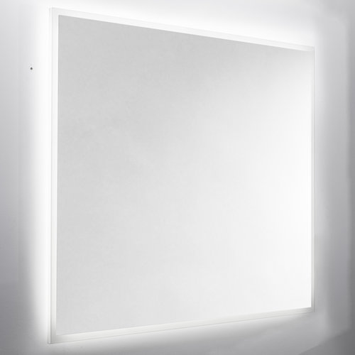 Wandspiegel Van Marcke Destra Met Plexi, LED Verlichting En Anti-Damp 80x60 cm Gezandstraald Glas