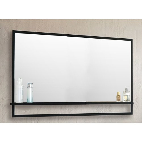 Badkamerspiegel Casajoy 120x70cm met Planchet Zwart