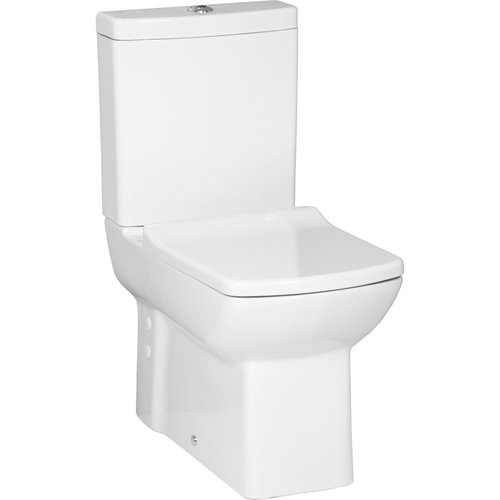 Toiletpot Staand Creavit Lara Achter Onder Aansluiting Wit