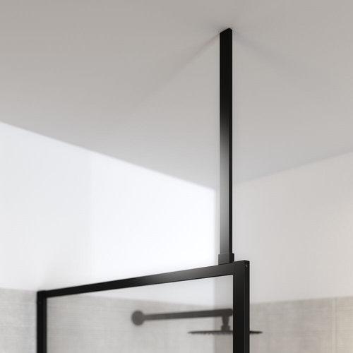 Plafondsteun tbv Sealskin Soho Inloopdouche 60 cm Inkortbaar Mat Zwart
