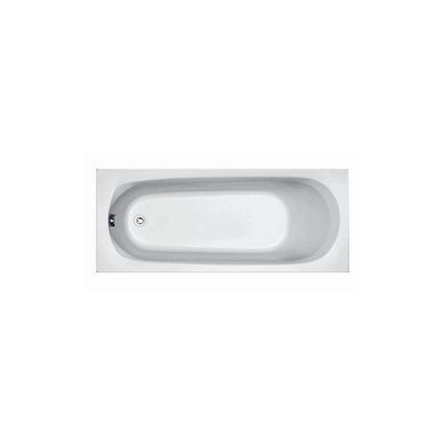Ligbad Plieger Basic Solo 170x70x37cm Acryl met Poten Wit