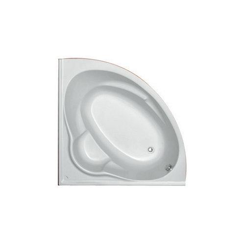 Hoekbad Plieger Kreta Kwartrond Acryl 135x135x43 cm met Poten Wit