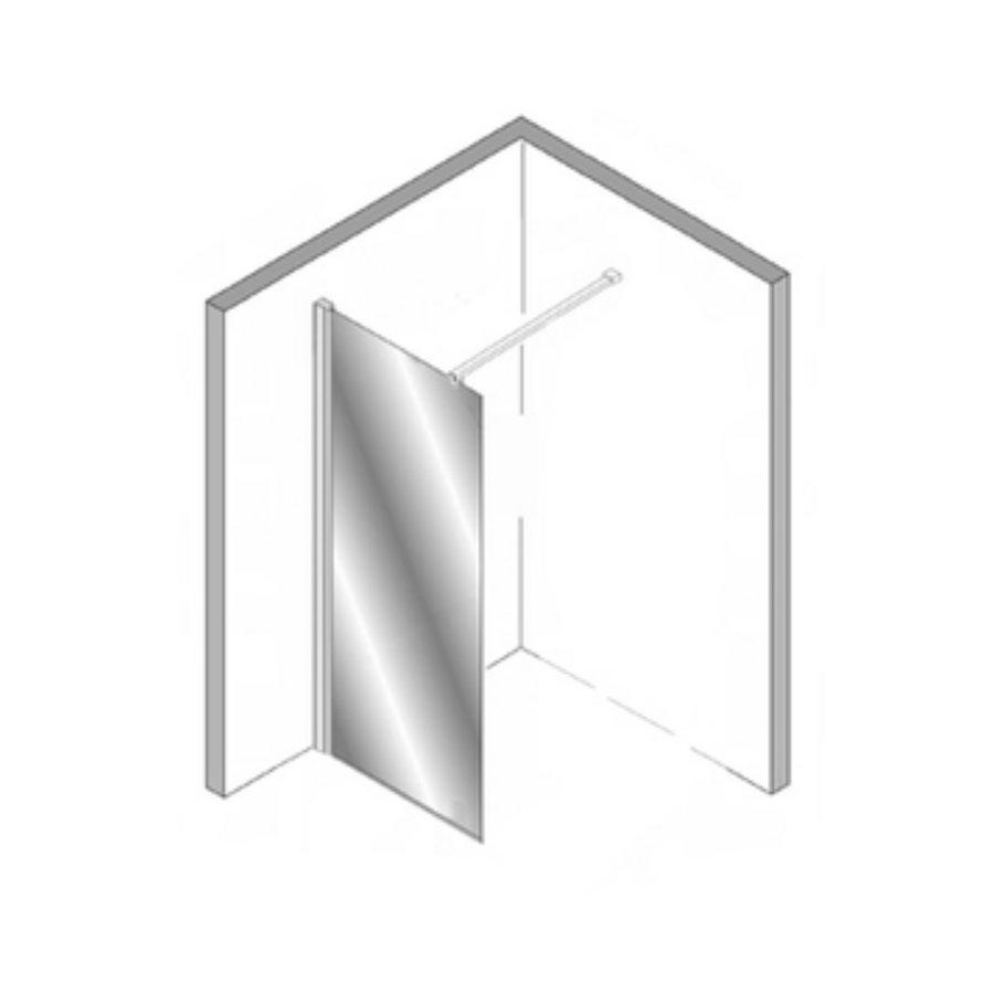 Douchecabine Plieger Panorama 6mm 100x80x200cm (Douchewand en Vouwdeur) Chroom