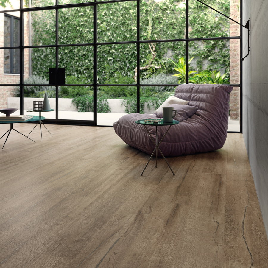 Vloertegel Timewood Brown 30x180 cm Sant'Agostino (doosinhoud 2.16m2)