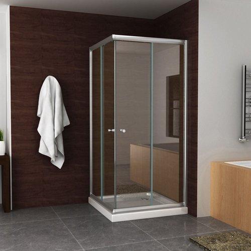 Douchecabine Aqua Splash Hoekinstap 100x100x190 cm 5 mm Helder Glas Chroom