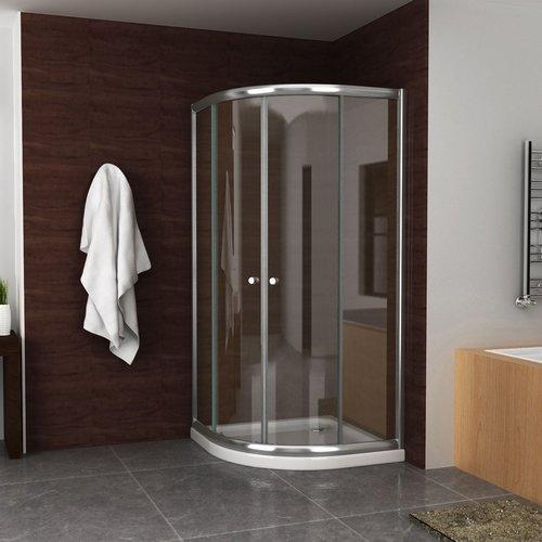 Douchecabine Aqua Splash Kwartrond 100x100x190 cm 5 mm Helder Glas Chroom