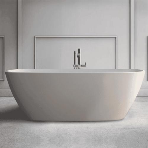 Vrijstaand Bad Bellezza Bagno Accadia Solid Surface 170x72x54 cm Mat Wit