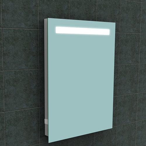 Badkamerspiegel Aqua Splash Mire Rechthoek Inclusief LED Verlichting + Stopcontact 60 cm