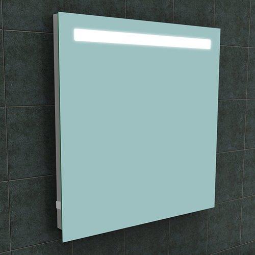 Badkamerspiegel Aqua Splash Mire Rechthoek Inclusief LED Verlichting + Stopcontact 80 cm