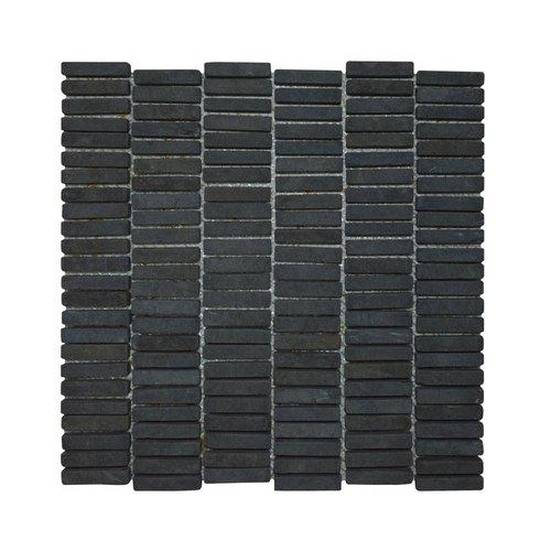 Mozaiek Parquet 1x4.8 30x30 cm Marmer Grey (doosinhoud 1 m2)
