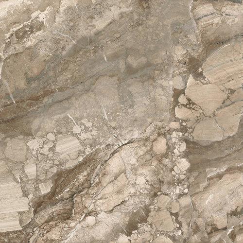 Vloertegel XL Etile Rialto Praline Glans 120x120 cm (1.44m² per Tegel)