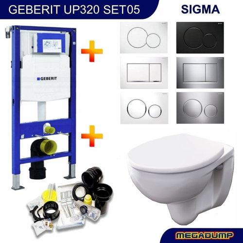 Up320 Toiletset 05 Geberit Econ 2 Met Zitting En Sigma Drukplaat