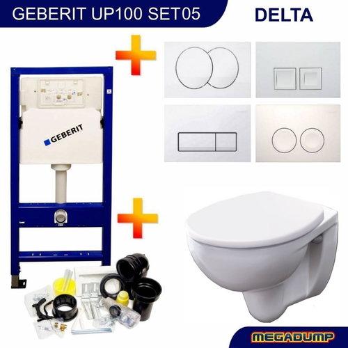 Up100 Toiletset 05 Geberit Econ 2 Met Zitting En Delta Drukplaat