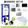 Geberit Geberit UP320 Toiletset set69 Geberit ONE Rimless Diepspoel Turboflush Wit met Sigma 10 drukplaat